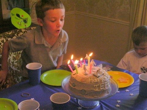 Jeffrey birthday 2009 candles