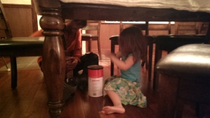 Under-the-table drumming with Uncle Sven